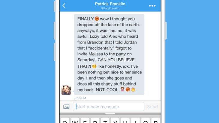 Twitter : la limitation à 140 caractères pour les messages privés, c'est fini !
