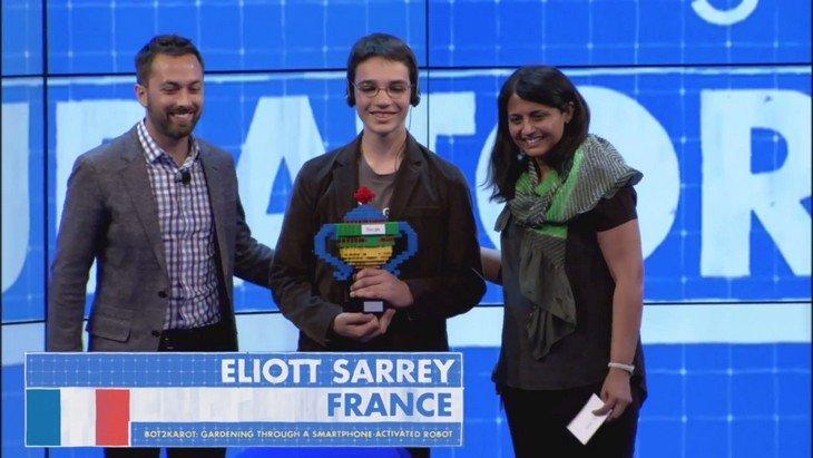 Google Science Fair : un français de 14 ans est lauréat avec son robot jardinier
