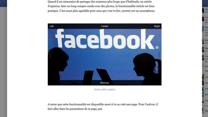 Astuce : écrire un article à la façon d'un blog dans Facebook