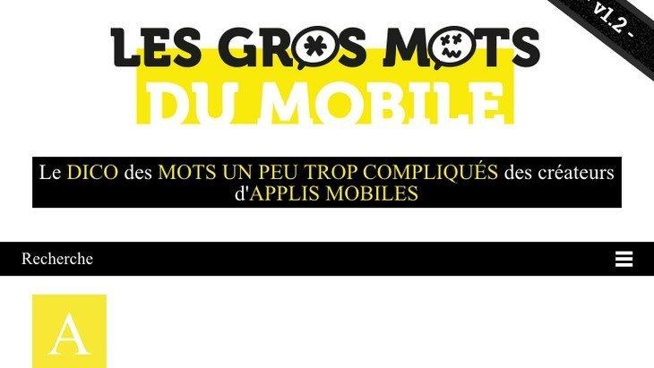 Découvre les Gros Mots du Mobile, le lexique des applications mobiles