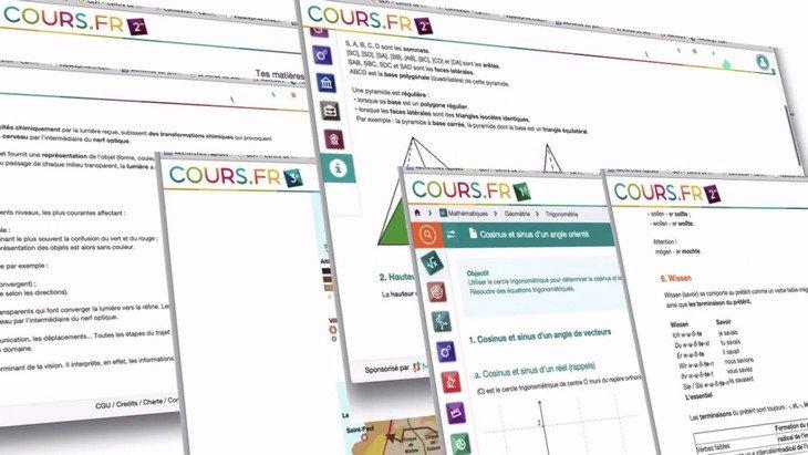 Cours.fr : des fiches de cours gratuites pour les collégiens et lycéens