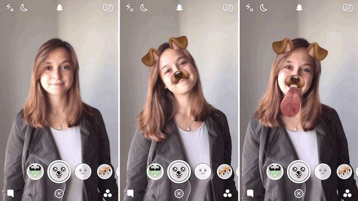 snapchat utiliser les filtres anim s lenses avec tes selfies geek junior. Black Bedroom Furniture Sets. Home Design Ideas