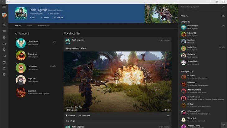 L'application Xbox pour Windows 10 est disponible au téléchargement