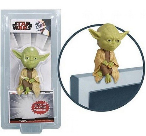 Funko - Star Wars Bobble Head Yoda Computer Sitter 10 cm