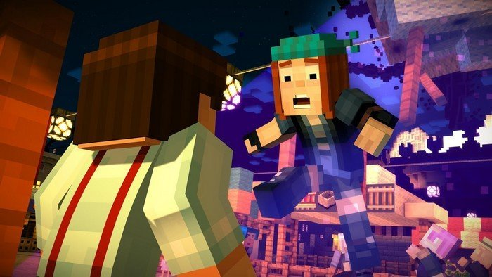 Minecraft Story Mode gameplay