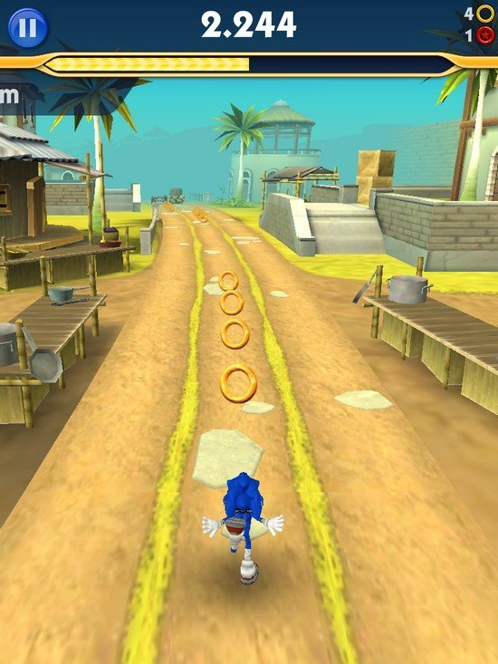 Sonic Dash 2 course