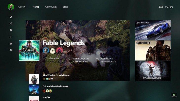 Nouveautés Xbox One : rétrocompatibilité, eSport et nouvelle interface en novembre