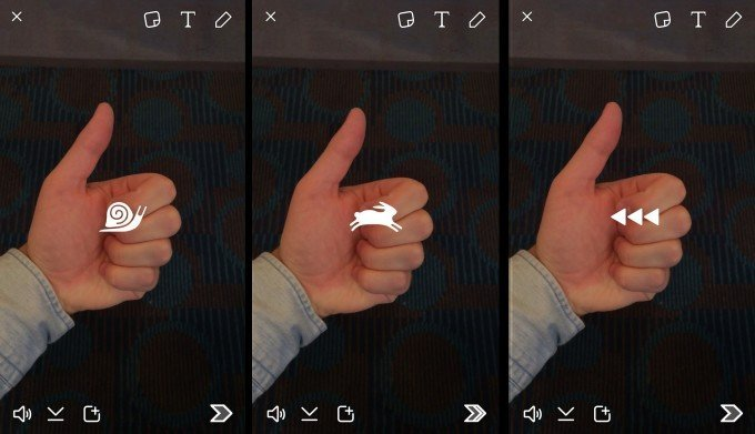 Snapchat vidéo filtres