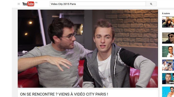 Video City 2015 Paris, le festival des youtubeurs les 7 et 8 novembre avec Cyprien, Squeezie, EnjoyPhoenix…