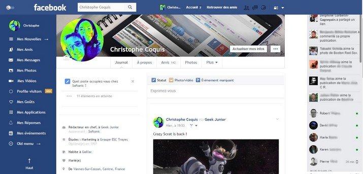 Facebook Flat Design