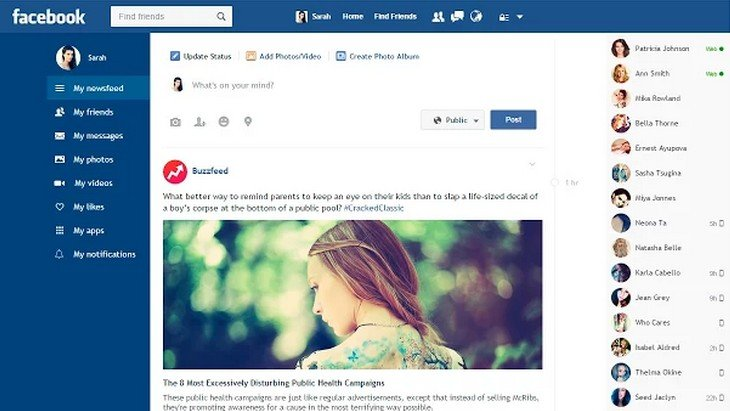 Une nouvelle interface pour Facebook à tester sur Google Chrome