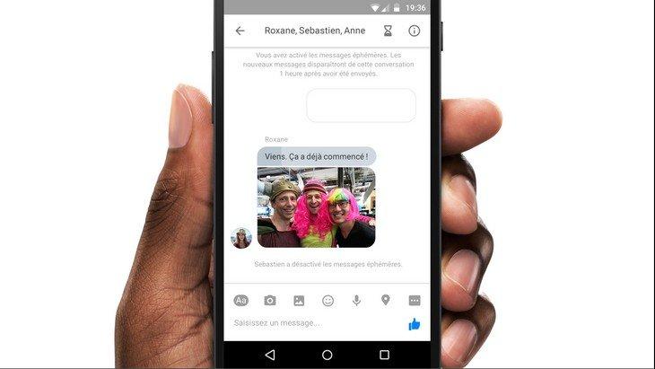 Facebook Messenger : les messages éphémères à la Snapchat testés en France