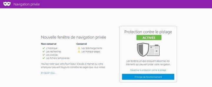 Firefox privée