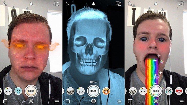 Mise à jour Snapchat : des effets payants pour les selfies
