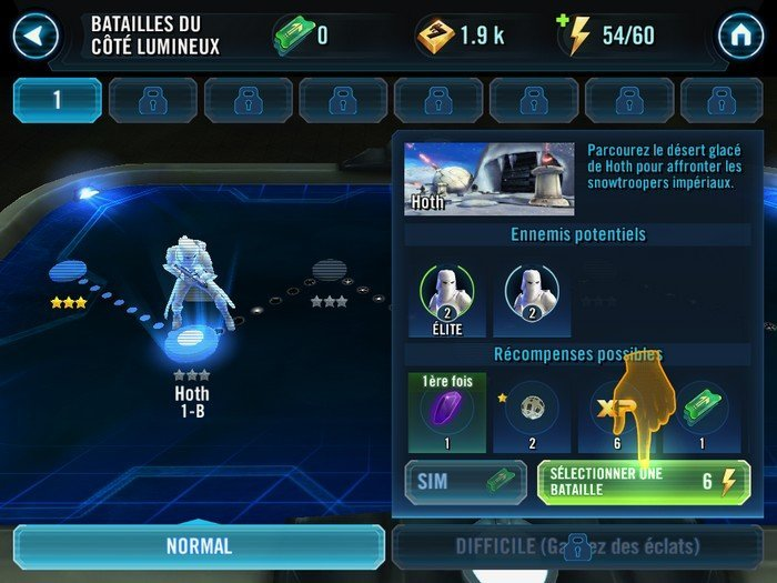 Star Wars Galaxy of Heroes bataille