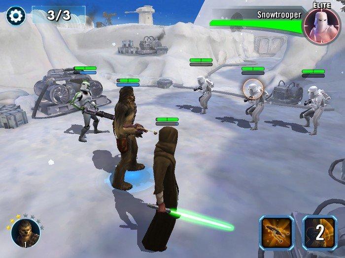 Star Wars Galaxy of Heroes gameplay