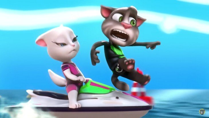 Talking Tom Jetski : à fond en Jet Ski (Android, iPhone et Windows)