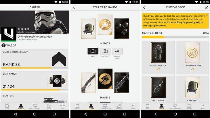 Sortie de Star Wars Battlefront : découvre son application compagnon sur Android et iOS