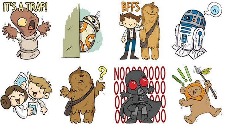 Facebook messenger les stickers officiels star wars for Autocollant mural star wars