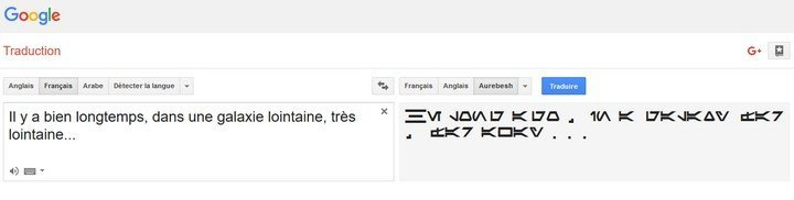 Google Traduction Aurebesh