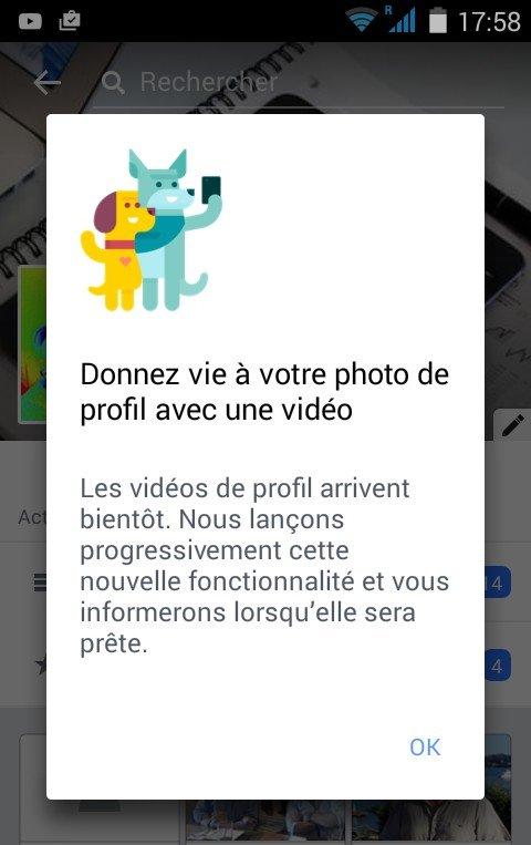 Profil vidéo Android