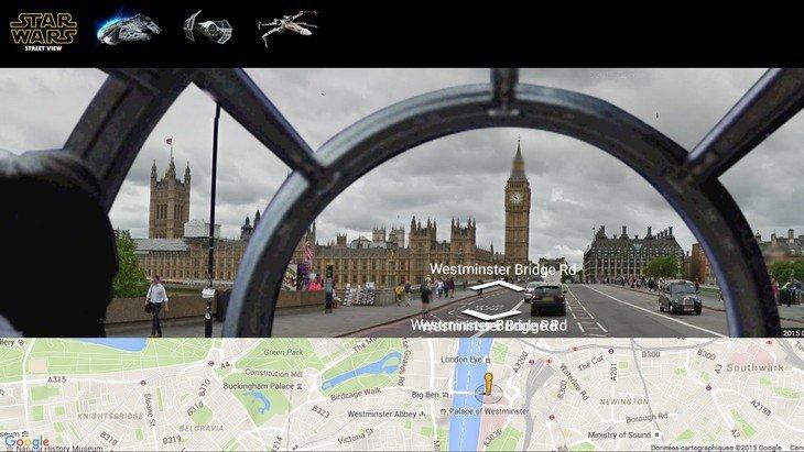 Star Wars : pilote le Faucon Millenium dans Google Street View !