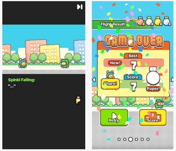 Swing Copters 2 - gameplay