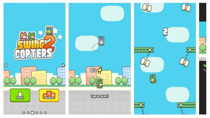 Swing Copters 2 : encore plus énervant que Flappy Bird !