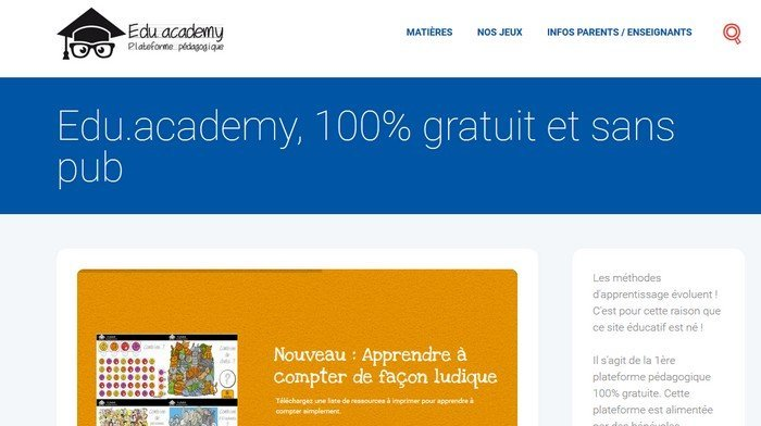 edu.academy homepage