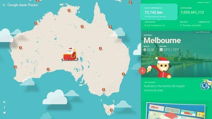 Santa Tracker Maps
