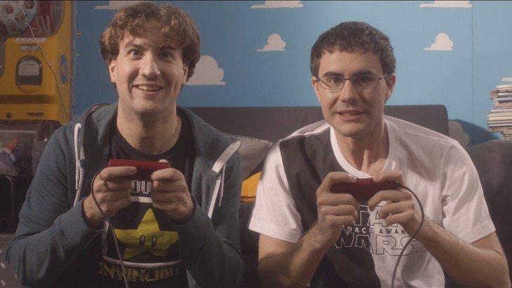 Mario et Miyamoto dans la dernière vidéo de Cyprien !