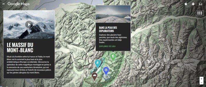 Google Maps Mont-Blanc