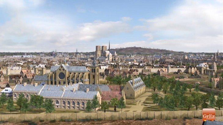 Histoire : découvre Paris au Moyen-Âge en 3D  dans cette vidéo !