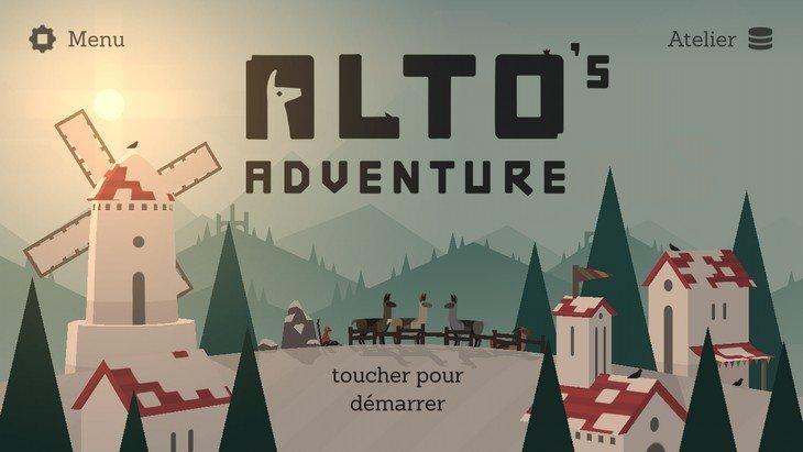 Alto's Adventure gratuit sur Android : un super jeu de snowboard
