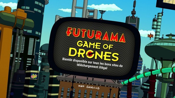 Futurama Game of Drones : un puzzle-game rigolo et futuriste