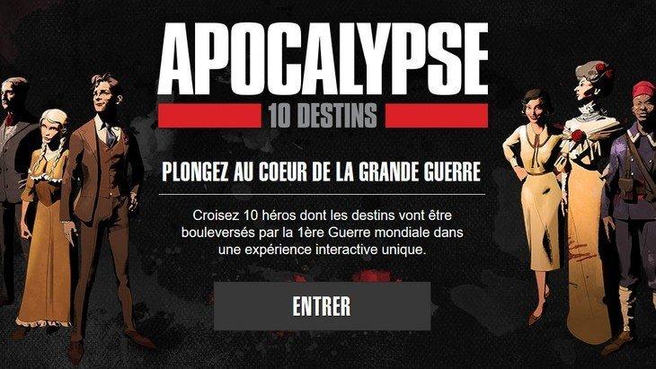 Apocalypse 10 destins : une expérience interactive originale sur la Grande Guerre