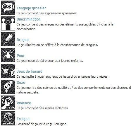PEGI - 8 indicateurs