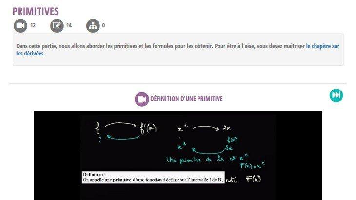 Mathenvideo.fr : 1500 cours de maths en vidéo du collège au post-bac