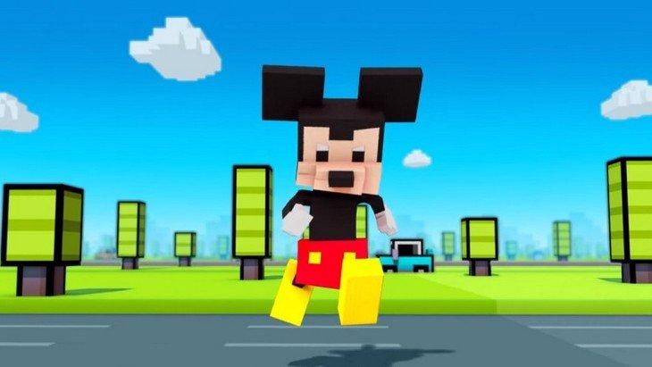 Disney Crossy Road : quand Mickey fonce en 8-bit sur ton téléphone