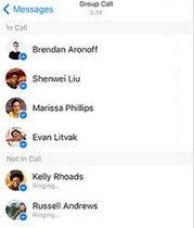 Facebook Messenger audio groupé