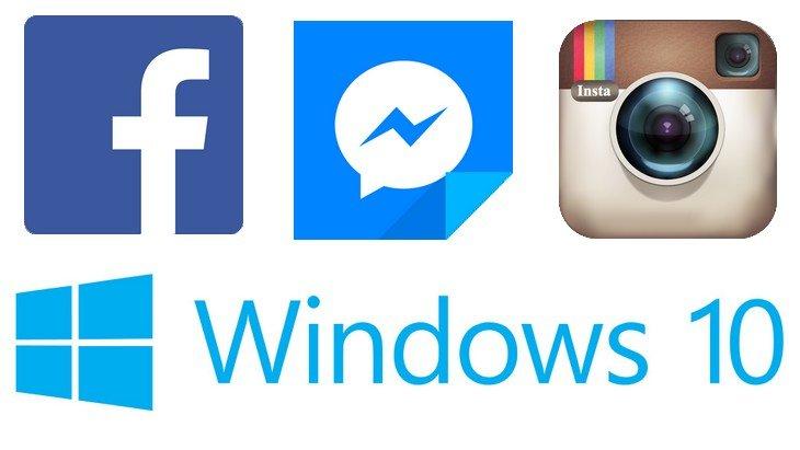 Facebook, Messenger et Instagram ont leur appli Windows 10