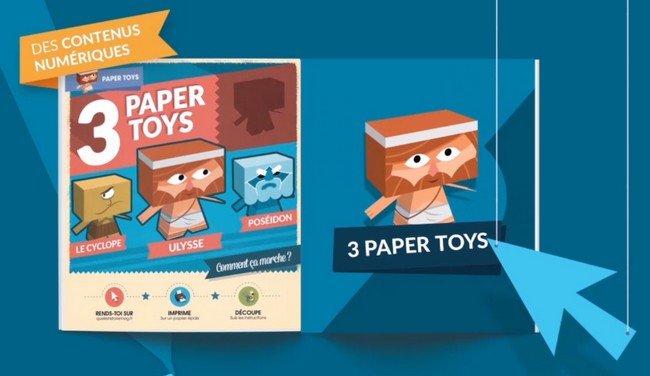 Quelle Histoire Magazine paper toys