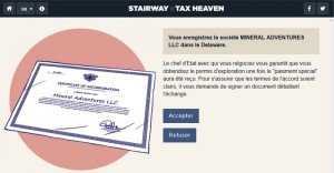 Stairway to Tax heaven - jeu