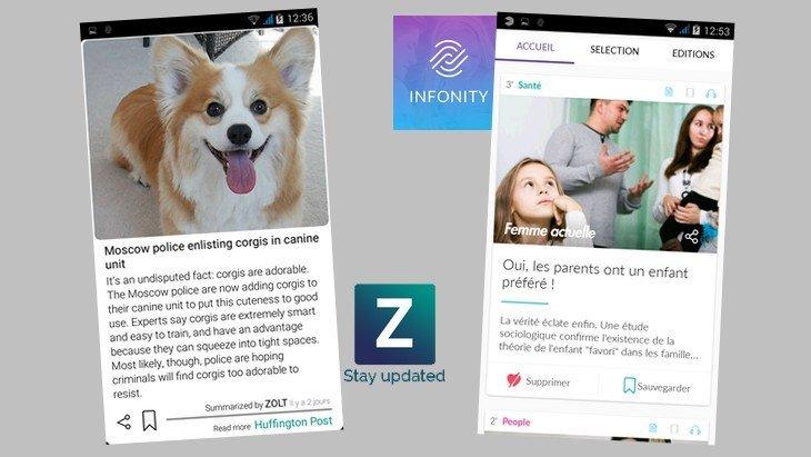 Infonity et Zolt : deux applis originales pour suivre l'actualité