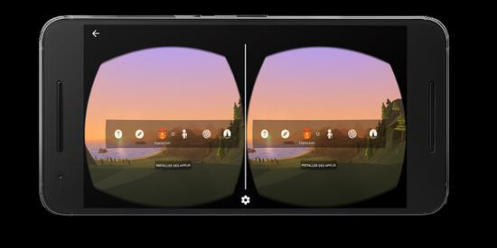 écran VR Google Cardboard