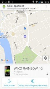 Android Device manager ok