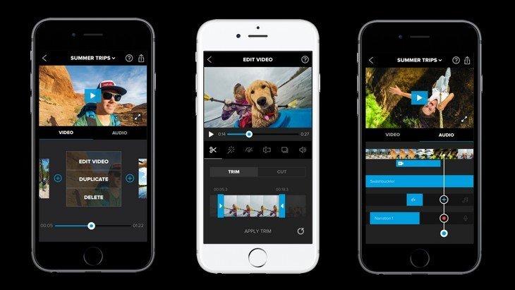 GoPro lance Splice et Quik, deux applis de montage vidéo