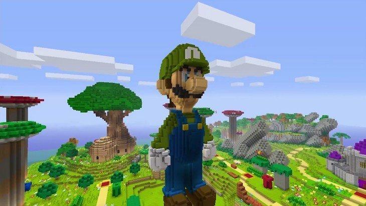 Super Mario dans Minecraft bientôt sur la Wii U !