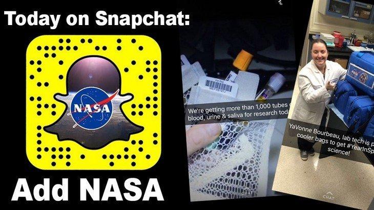 La NASA sur Snapchat : reçois des snaps depuis la station spatiale internationale !