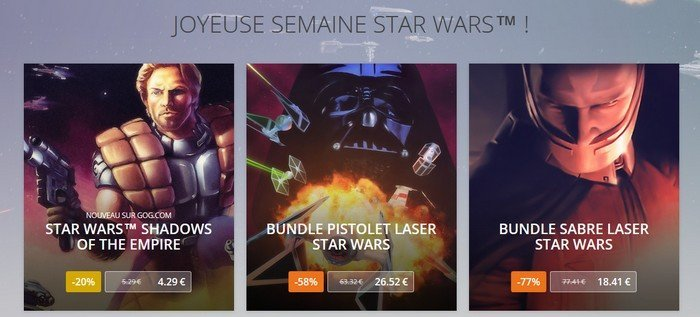 Star Wars gog.com offre spéciale